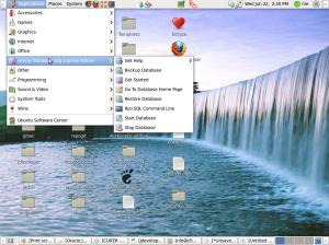 penampakan oracle terinstall di Ubuntu 64 bit
